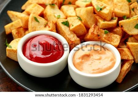 Patatas bravas traditional Spanish potatoes snack tapas Photo stock ©