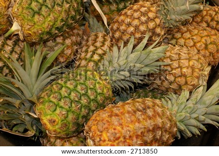patch of pineapples collage background