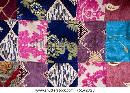 Patchwork background fabric