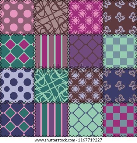 patchwork backgrpund with different patterns #1167719227