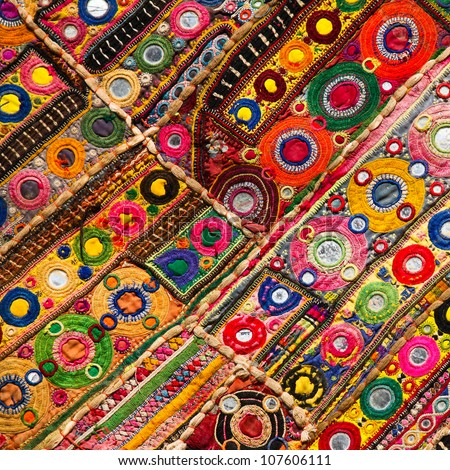 Patchwork quilt in Jaisalmer India