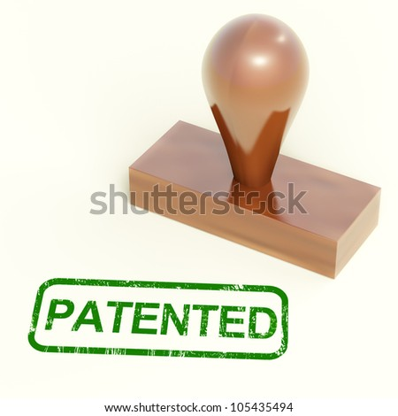 Patented Stamp Showing Trademark Patent Or Registered