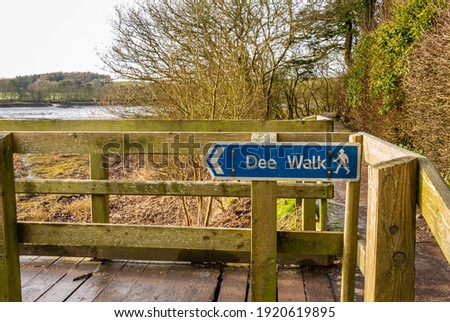 Path at the Dee walk along the River Dee estuary at Kirkcudbright, galloway, Scotland Сток-фото ©
