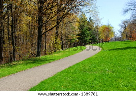 Path in a spring park - Shutterstock ID 1389781