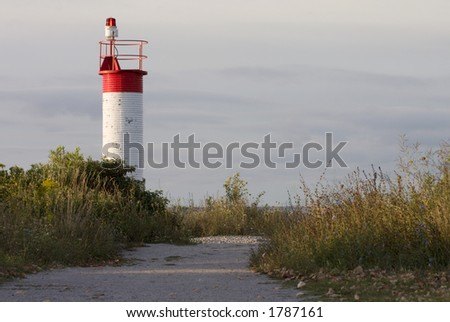 path leads to a lighthouse