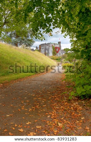 Path to Birr Castle in Co.Galway - Ireland.