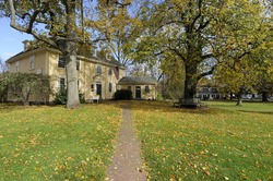 Path to Colonial House in Massachusetts