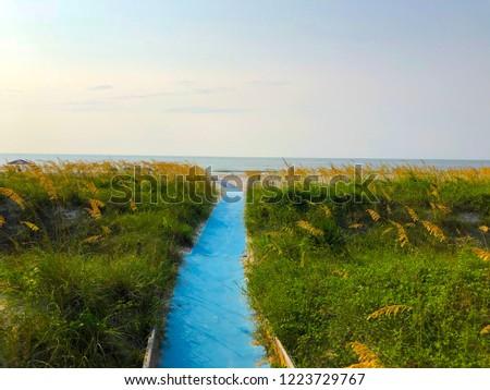 Path to Sunrise Over The Atlantic Ocean on Hilton Head Island, South Carolina