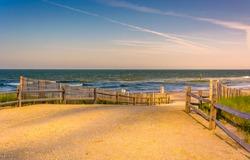 Path to the Atlantic Ocean in Atlantic City, New Jersey.