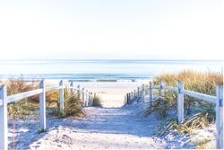 Path to the beach at baltic sea