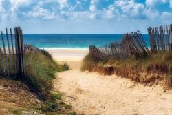 Path to the beach, Quiberon's landscape, Bretagne (Brittany), France