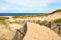 Path way to the beach at Cape Cod, Massachusetts, USA.