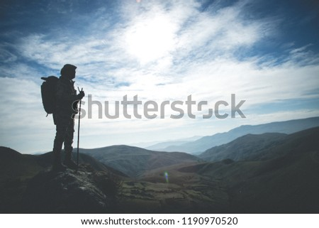 Pathfinder in the mountains Stock photo ©