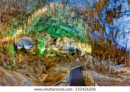 Pathway through the Big Room, Carlsbad Caverns, New Mexico