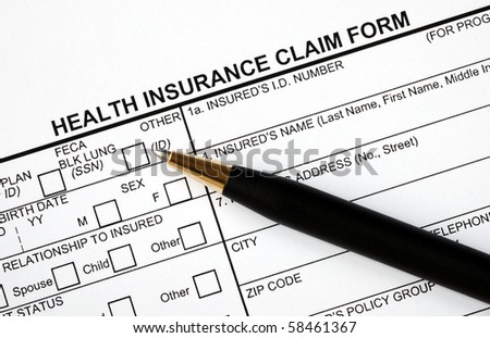 Patient fills in the medical claim form
