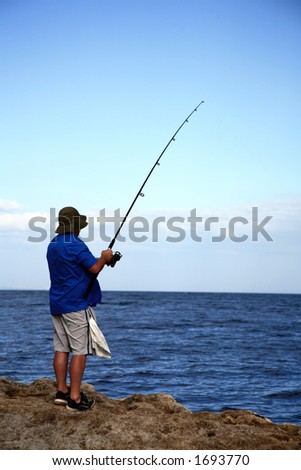 Patient Fisherman with the Rod #1693770