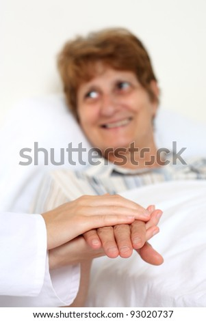 Patient in bed