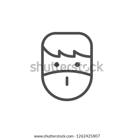 Patient line icon isolated on white