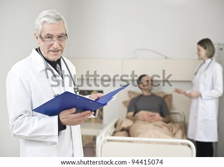 Patient who receives a good news