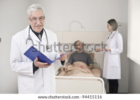 Patient who receives a good news - stock photo