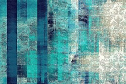patina background with damask pattern - texture