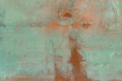 Patina copper metal background texture. Vintage effect.