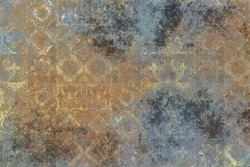 patina wall covering background - damask & vintage texture