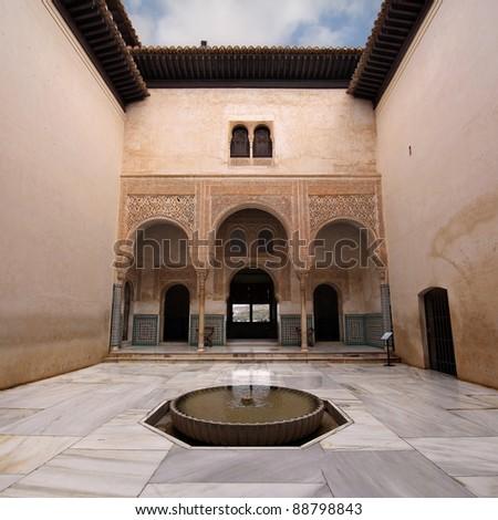Patio del Mexuar (Court of the Council Chamber) in La Alhambra, Granada, Spain.
