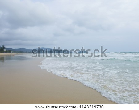 Patong Beach area is popular place of Phuket, Tropical sea of South Thailand #1143319730