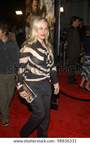 PATRICIA ARQUETTE at the USA premiere of The Lord of the Rings: The Return of the King, in Los Angeles. December 3, 2003  Paul Smith / Featureflash