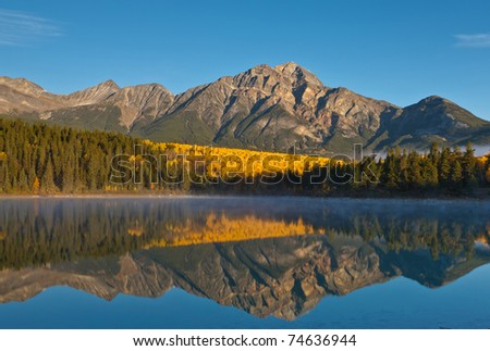 Patricia Lake and Pyramid Mountain, Jasper National Park, Alberta, Canada