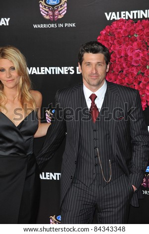 """Patrick Dempsey & wife at the world premiere of his new movie """"Valentine's Day"""" at Grauman's Chinese Theatre, Hollywood. February 8, 2010  Los Angeles, CA Picture: Paul Smith / Featureflash"""