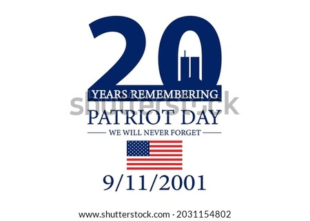 Patriot Day 2021 Background Illustration Сток-фото ©