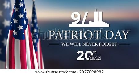 Patriot Day 9 11 USA Background Illustration Stok fotoğraf ©