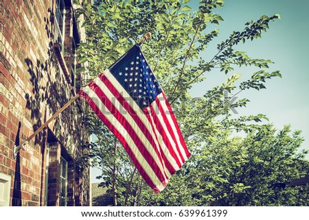 patriotic american flag in...