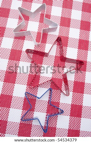 Patriotic American Image with Red, White, and Blue and Star Shapes.