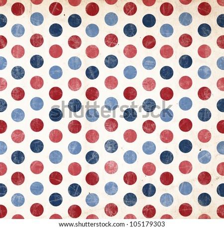 Patriotic Background - Red and Blue Dots