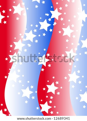 Patriotic background with stars and stripes in red white and blue
