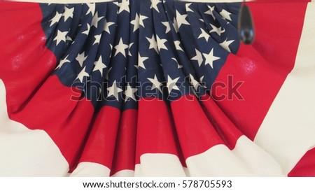 Patriotic flag banner #578705593