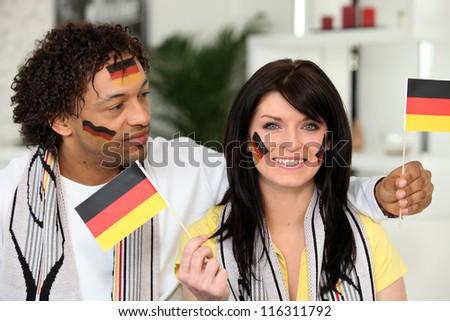 Patriotic German couple