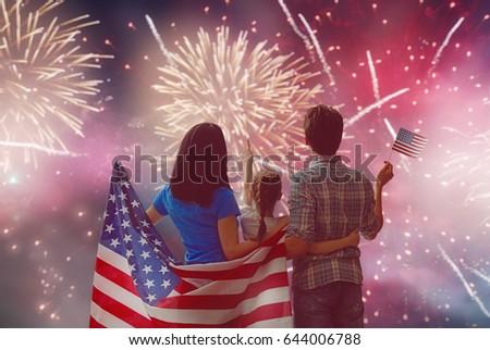 patriotic holiday. happy family ...