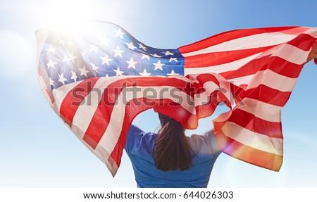 patriotic holiday. happy young...