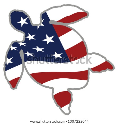 Patriotic Sea Turtle