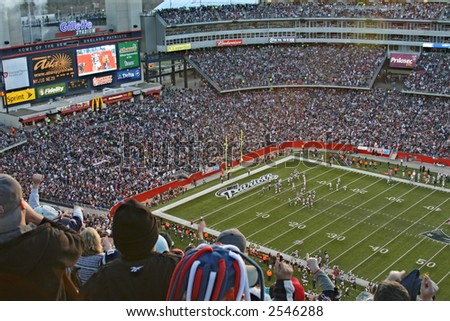 Patriots Fans at Gillette Stadium