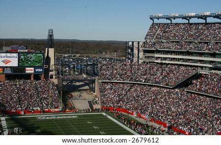 Patriots Fans at Gillette Stadium