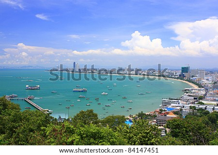 Pattaya bay thailand