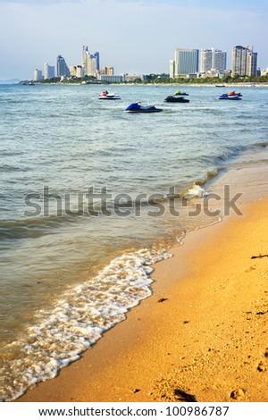 Pattaya beach in the sunshine day, Thailand