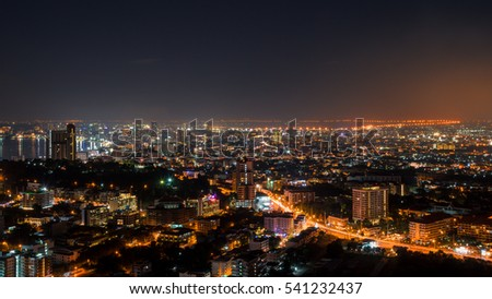 Pattaya city at the night time #541232437
