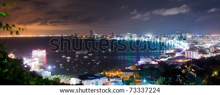 Pattaya City Harbor Panorama