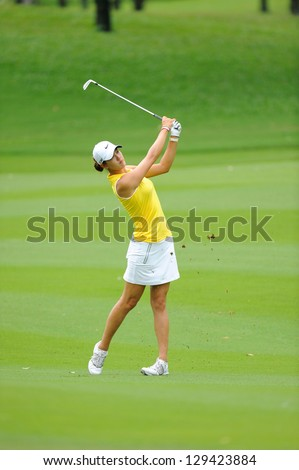 PATTAYA, THAILAND- FEB 22 :Michelle Wie competes at Honda LPGA Thailand at Siam Country Club (Old Course) on February 22, 2013 in Pattaya, Thailand
